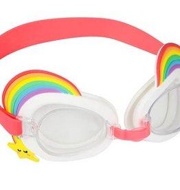 rainbow swimming goggles