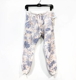 vintage havana tropical print distressed jogger