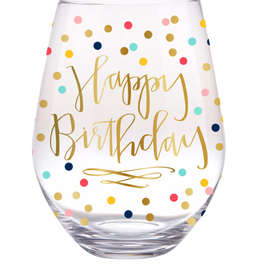 slant happy birthday confetti 30oz wine