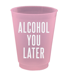 slant alcohol you later 4oz party cups 8ct