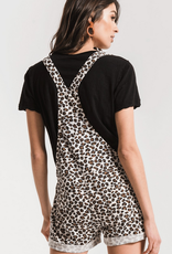 z supply the multi leopard short overalls