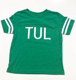 green TUL youth varsity tee