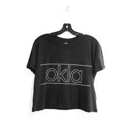 LivyLu okla puff outline cropped tee