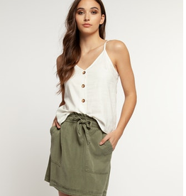 dex v-neck cami with buttons