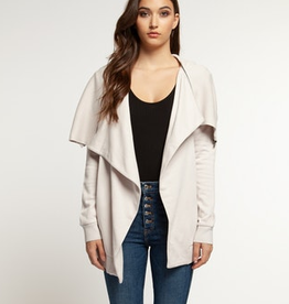 dex draped cardi with zip detail
