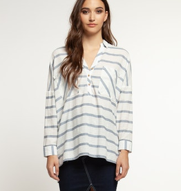 dex hi low pullover blouse