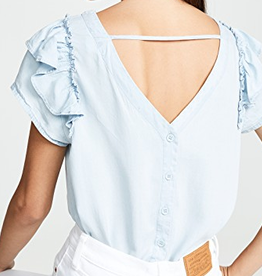 sweetness & light washout chambray top