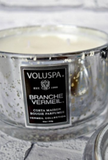 voluspa branche vermeil 11 oz porta maison glass candle