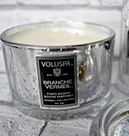 voluspa branche vermeil 11 oz porta maison glass candle