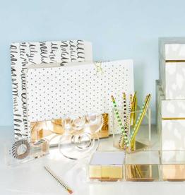 kate spade gold acrylic file organizer