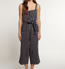 dex button front jumpsuit with belt