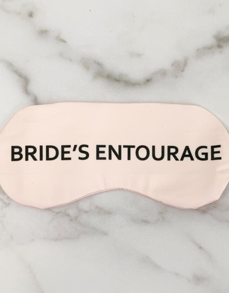 bride's entourage eye mask