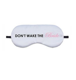 don't wake the bride eye mask