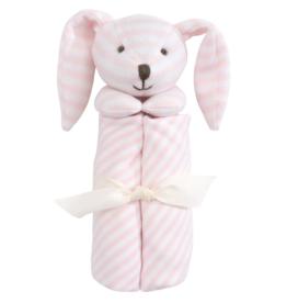 stripe pink bunny blankie