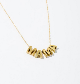 "mama necklace 18"" gold"