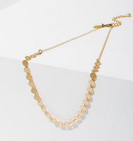candra necklace in circles gold