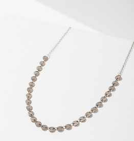 candra necklace in circles silver