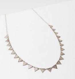 candra necklace in triangles silver