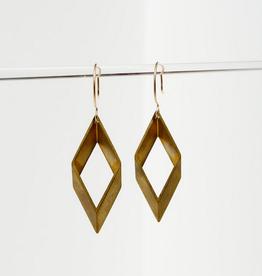 large brass earrings