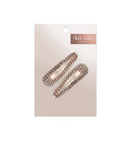 rose gold rhinestone snap clips