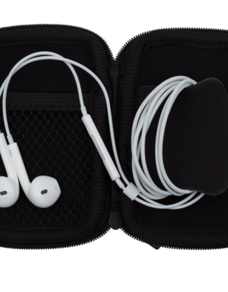 my tagalongs charger case & ear bud case - black (boxed set)