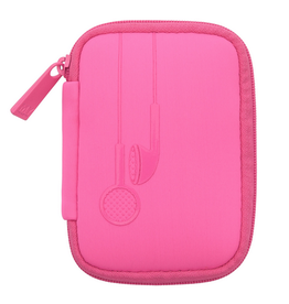 my tagalongs ear bud case - signature pink