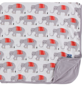 kickee pants natural indian elephant toddler blanket