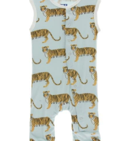 kickee pants spring sky tiger print tank romper