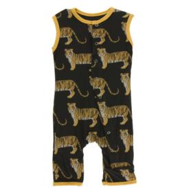 kickee pants zebra tiger print tank romper