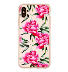 casery peony pink iphone case X/Xs