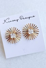 kinsey designs burst spark - sunburst stud