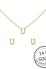 fortunate gold necklace and earring set