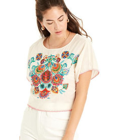 patrons of peace larissa embroidered crop top FINAL SALE