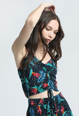 patrons of peace birds of paradise spaghetti strap crop top