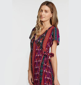 patrons of peace sonya wrap dress XS