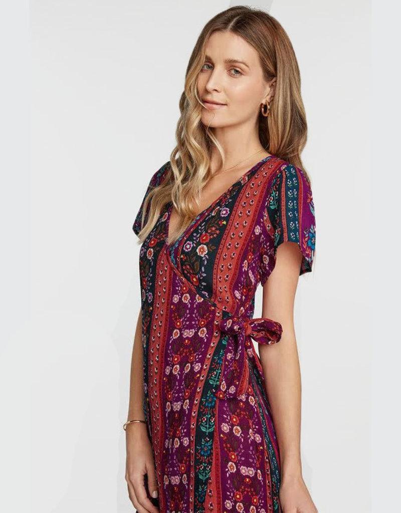 patrons of peace sonya wrap dress XS