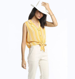 patrons of peace goldie tie front top FINAL SALE
