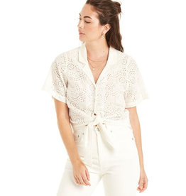 patrons of peace mia eyelet tie top FINAL SALE
