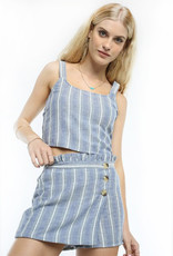 patrons of peace denim stripe skort