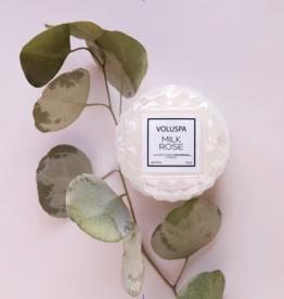 voluspa macaron milk rose candle