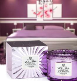 voluspa aurantia & blackberry 11oz corta maison glass candle