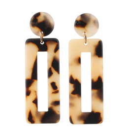 leopard resin dangle