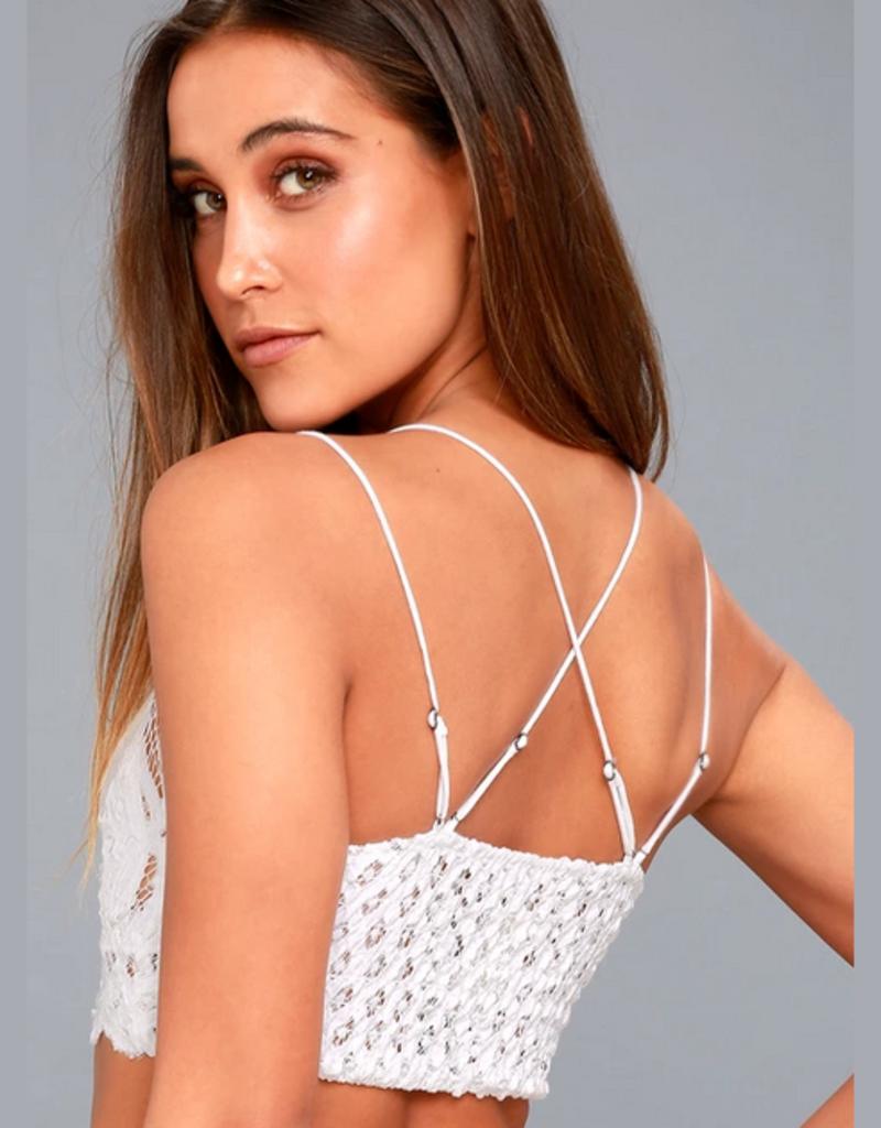strappy floral lace bralette