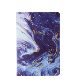 blue marble dreams style journal 6x8