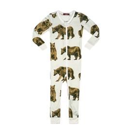 milkbarn bear zipper pajamas