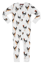 milkbarn chicken zipper pajamas
