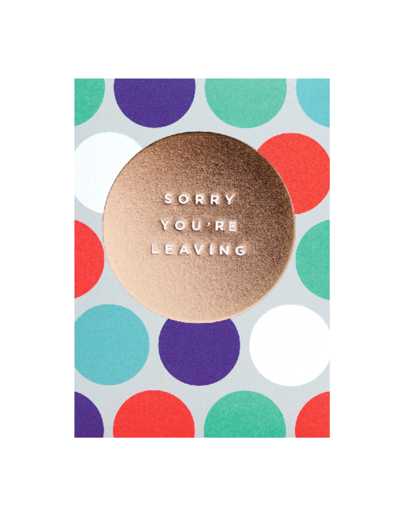 calypso cards sorry you're leaving card