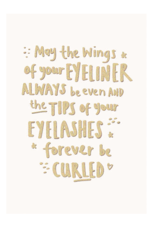 Calypso eyeliner card