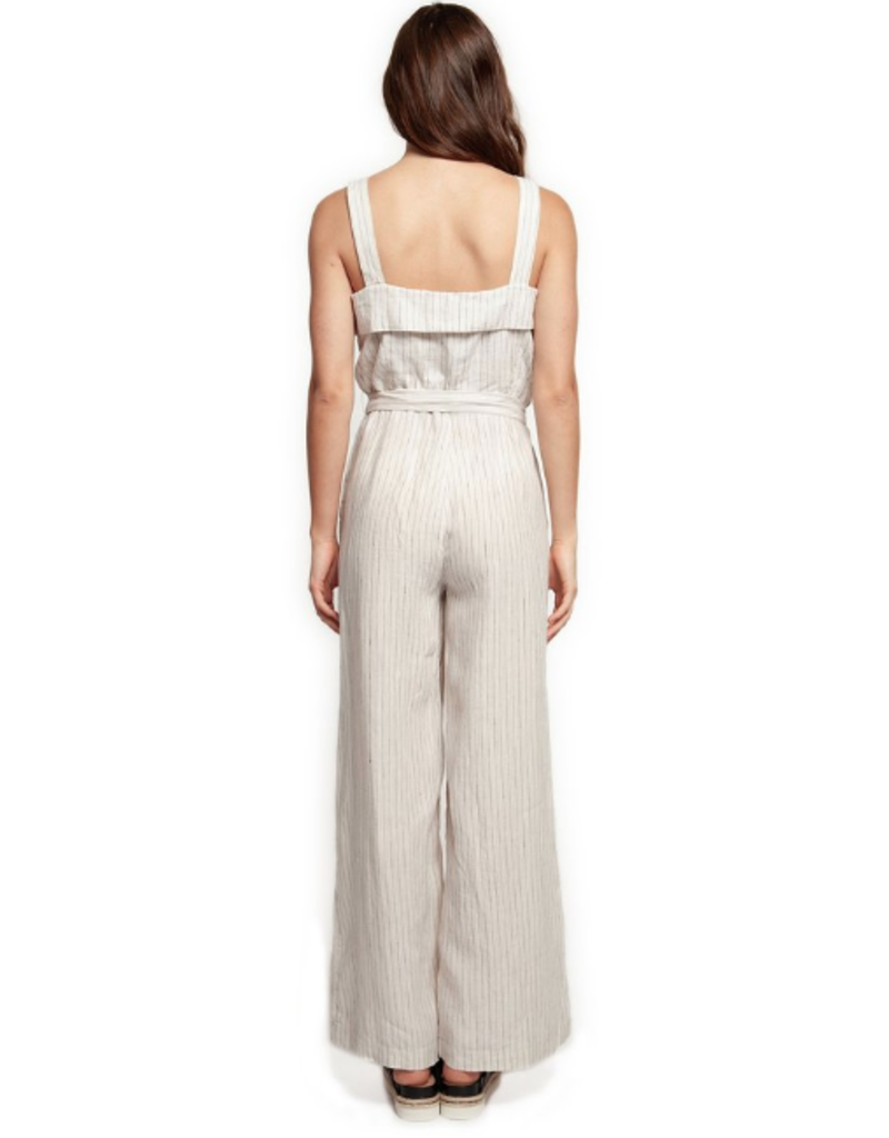 wide strap button front jumpsuit FINAL SALE
