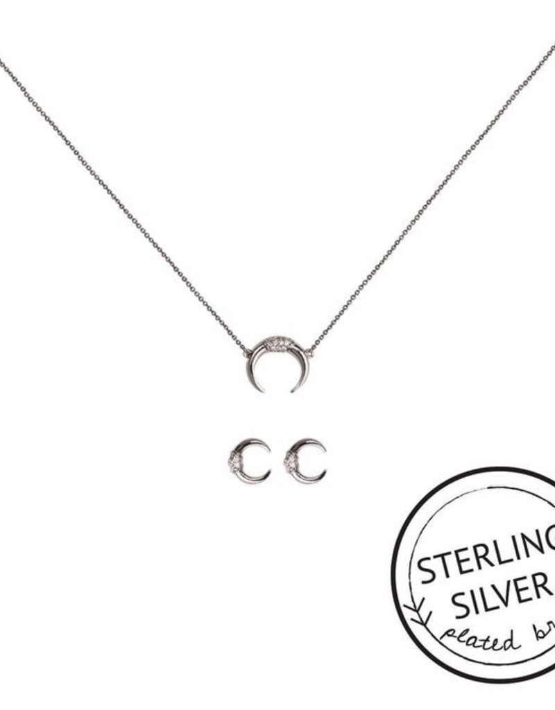 be bold silver necklace & earring set